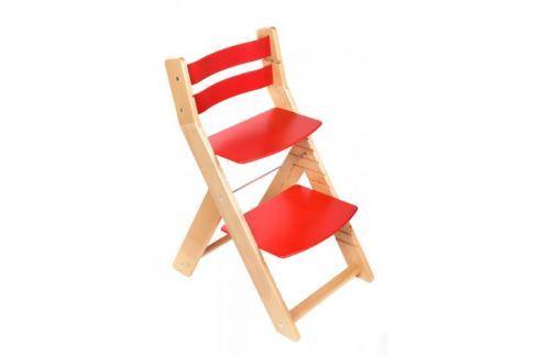 WOOD PARTNER Rastúca stolička MONY natur lak - červená