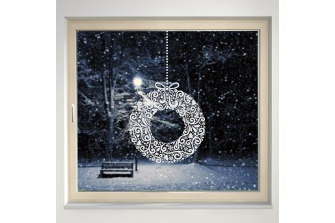 Housedecor Samolepka na sklo Holly Wreath