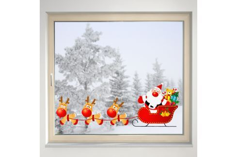 Housedecor Samolepka na sklo Santa Claus