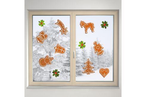 Housedecor Samolepka na sklo Vianočné pečivo