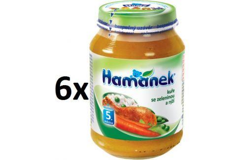 Hamánek Kurča so zeleninou a ryžou 6x190g