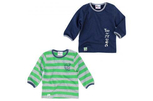 Gelati Súprava 2ks chlapčenských tričiek so psíkom