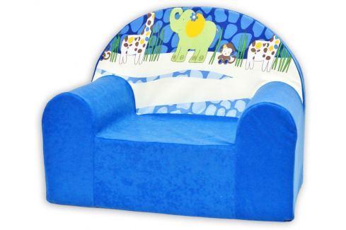 Baby Nellys Detské kresielko Safari v modrej