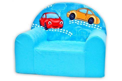 Baby Nellys Detské kresielko Veselá autíčka v modrom