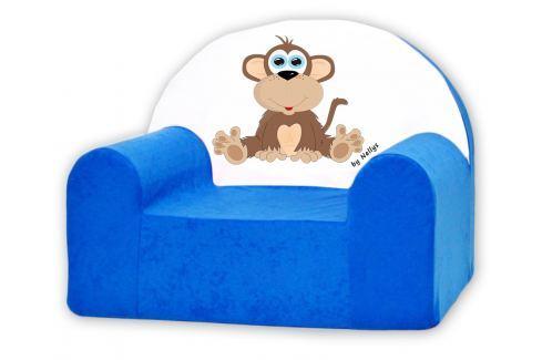 Baby Nellys Detské kresielko Opička Nellys modrá