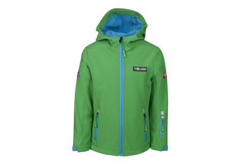 Trollkids Detská zelená softshellová bunda