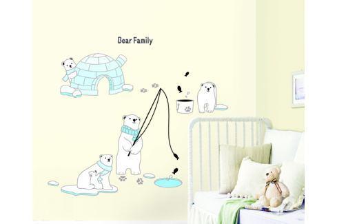Ambiance Dekoračné samolepky - polárny medvedíky
