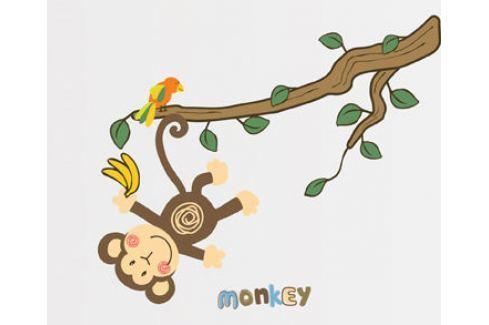 Ambiance Dekoračné samolepky - Opička