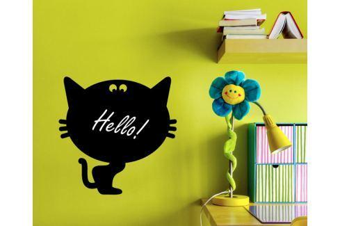 Ambiance Samolepiaca tabuľa čierna - mačička