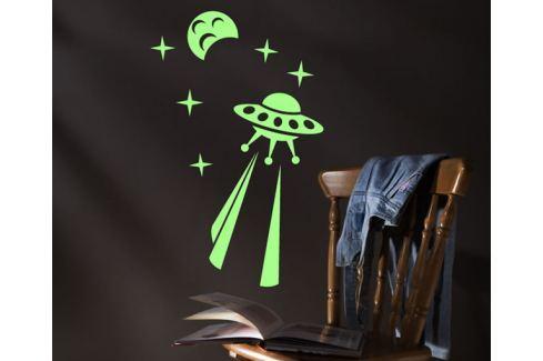 Ambiance Svietiace dekoračné samolepky - UFO