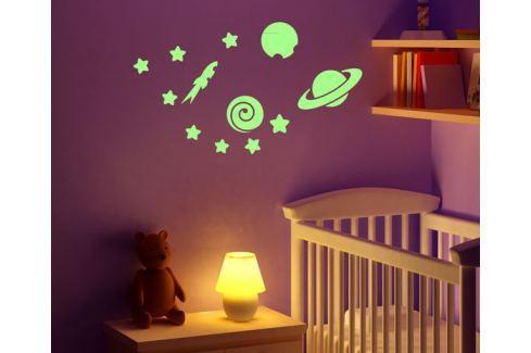 Ambiance Svietiace dekoračné samolepky - planéty