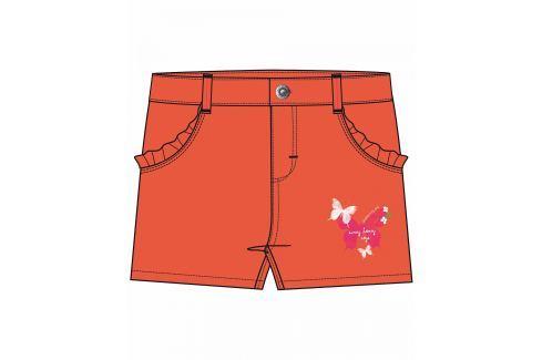 Blue Seven Dievčenské šortky s motýliky - oranžové