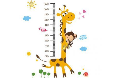 Ambiance Dekoračné samolepky - žirafa a opička