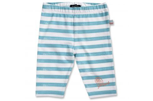 Blue Seven Dievčenské pruhované capri nohavice - modro-biele