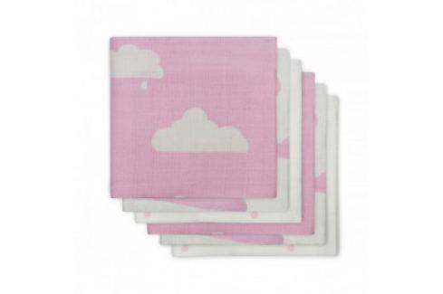 Jollein Plienky balenie 6ks, Clouds pink, 70x70cm