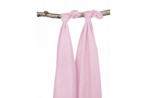 Jollein Osušky bambus balenie 2ks, light pink, 115x115cm