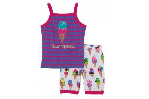 Hatley Dievčenské letné pyžamo so zmrzlinami - farebné