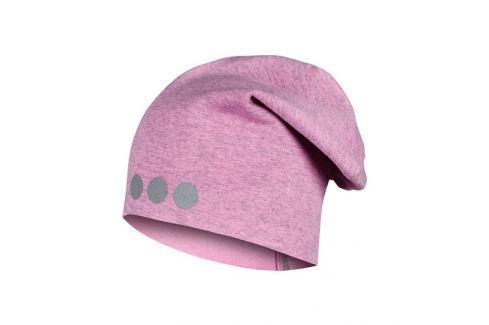 Lamama Dievčenská čiapka s reflexnou potlačou - svetlo ružová