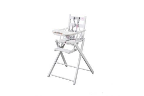 Combelle Skladacia jedálenská stolička, biela