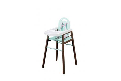 Combelle Jedálenská stolička Lili, hnedo-zelená