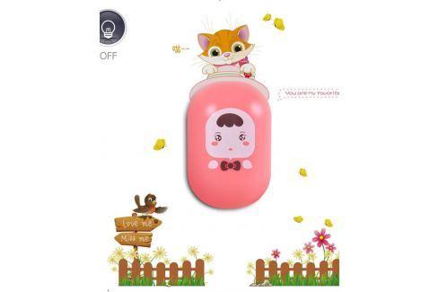 JP In Trade Nočná LED lampička s nálepkou Ružová bábika