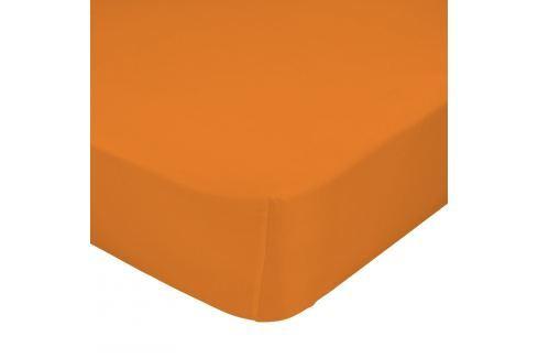 Mr. FOX Bavlnené prestieradlo, 90x200 cm - oranžové