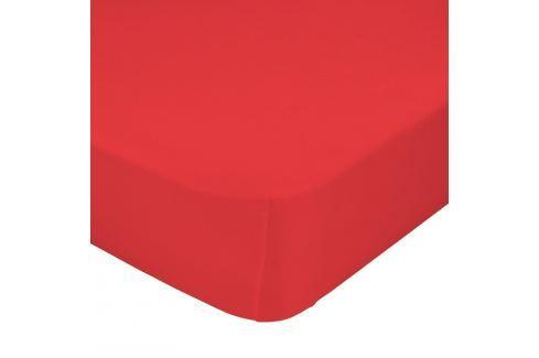 Mr. FOX Bavlnené prestieradlo, 90x200 cm - červené