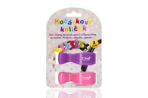 T-tomi Kočíkový štipec, 2ks, ružová + fialová