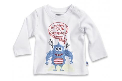 Blue Seven Detské tričko s príšerkou - biele
