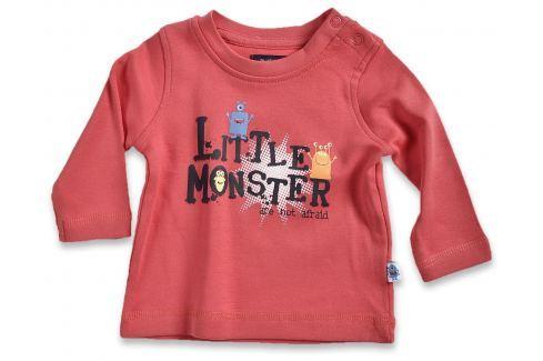 Blue Seven Detské tričko Little monštier - červené