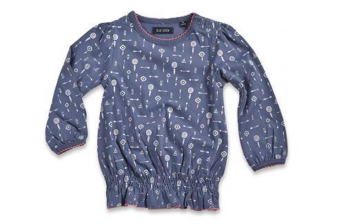 Blue Seven Dievčenská tunika s potlačou - modrá