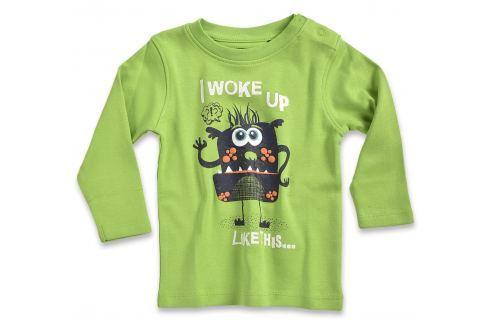 Blue Seven Chlapčenské tričko Aj woke up - zelené