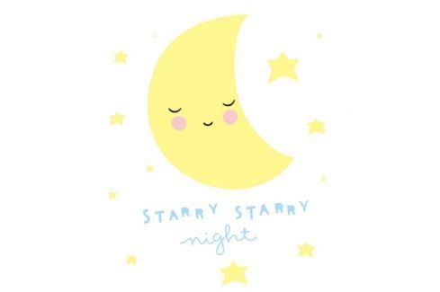 Little Lovely Company Samolepka na stenu, Starry Starry night