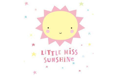 Little Lovely Company Samolepka na stenu, Little Miss Sunshine