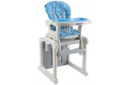 Babypoint Jedálenská stolička Gracia, 2017, modrá
