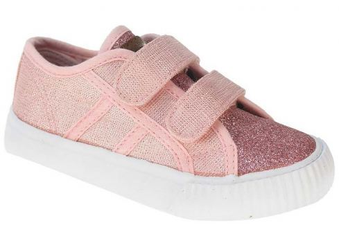 Beppi Dievčenské plátené tenisky - ružové