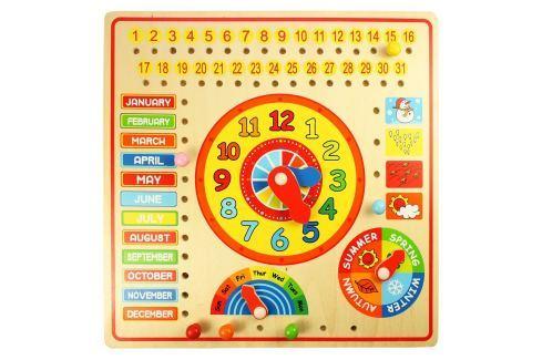 Bigjigs Kalendár s hodinami s angličtinou