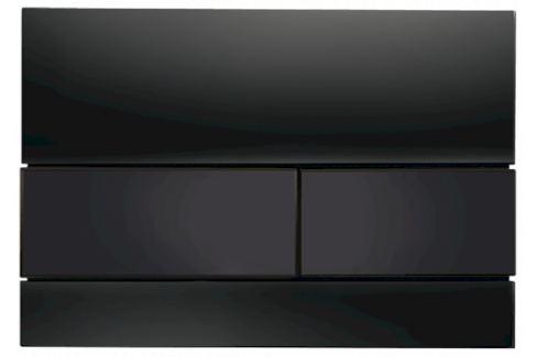 Ovládacie tlačidlo Tece Square sklo v čiernej farbe 9240809