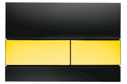Ovládacie tlačidlo Tece Square sklo, zlatá 9.240.808