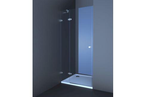 Sprchové dvere Anima T-Glass jednokrídlové 80 cm, sklo číre, chróm profil TGD280T