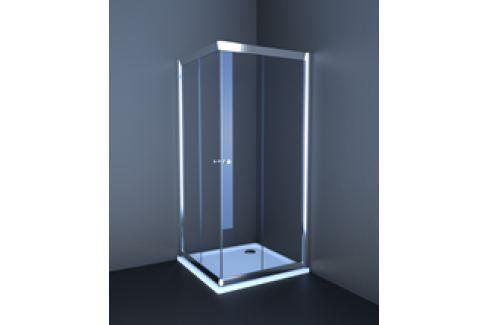 Sprchový kút Anima T-Pro štvorec 90 cm, nepriehľadné sklo, chróm profil TPLNEW90CRG