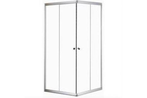 Sprchový kút Anima T-Pro štvorec 90 cm, nepriehľadné sklo, biely profil TPLNEW90G