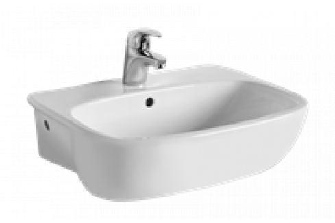 Polozápustné umývadlo Kolo Style 55x44 cm, otvor pre batériu uprostred L21855000