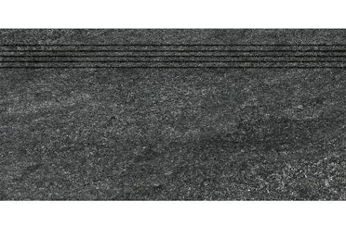 Schodovka Rako Quarzit čierna 30x60 cm mat DCVSE739.1