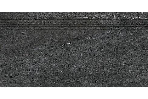 Schodovka Rako Quarzit čierna 30x60 cm mat DCPSE739.1