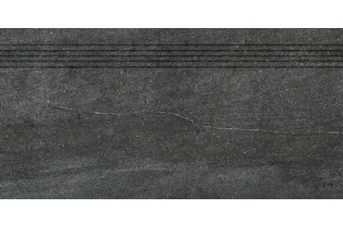 Schodovka Rako Quarzit čierna 40x80 cm mat DCP84739.1