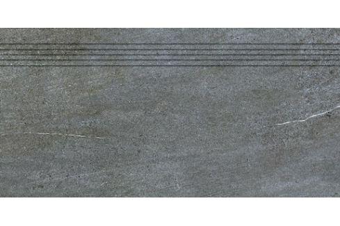 Schodovka Rako Quarzit tmavo šedá 40x80 cm mat DCP84738.1