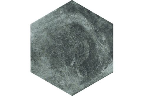 Dlažba Cir Miami pitch black hexagon 24x27,7 cm mat 1063331