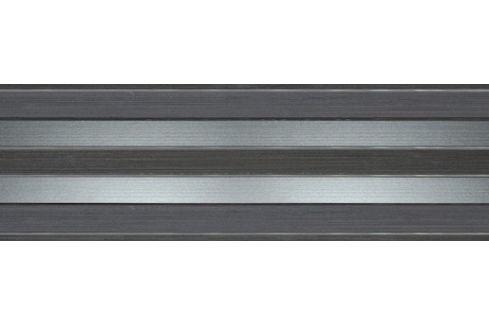 Dekor Fineza Selection tmavo šedá 20x60 cm lesk DSELECT26GR