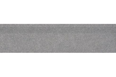 Schodovka Rako Block tmavo šedá 30x120 cm mat DCPVF782.1